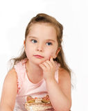 Portrait of cute little girl Royalty Free Stock Photos