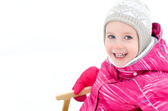 Portrait of cute little girl Stock Photos