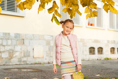 Portrait of a cute little girl Stock Photography