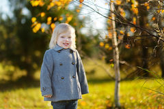Portrait of a cute little girl on autunm day Royalty Free Stock Photography