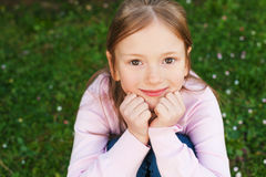 Portrait of a cute little girl Stock Image