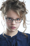 Portrait of a cute little girl close-up. Stock Photography
