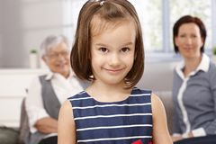 Portrait of cute little girl Stock Image
