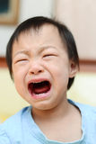 Portrait of a cute little girl crying Stock Images