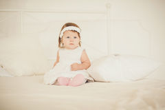 Portrait of a cute little girl Stock Images