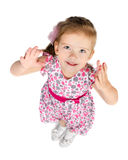 Portrait of cute  little girl  giving her hands Royalty Free Stock Images