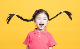 Portrait of cute little girl having fun royalty free stock photo
