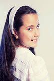 Portrait of a Little Girl in her First Communion Day Royalty Free Stock Photography