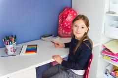 Portrait of a cute little girl Stock Photos