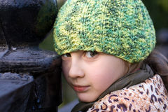 Portrait of cute little girl Stock Images