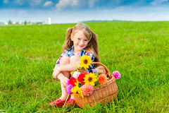 Portrait of a cute little girl Royalty Free Stock Images