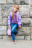 Portrait of a cute little girl Royalty Free Stock Photos