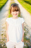 Portrait of a cute little girl. Outdoor portrait of a cute little girl on a nice summer evening Royalty Free Stock Photography