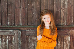 Portrait of a cute little girl Stock Photo