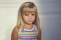 Portrait of cute little Girl outdoor. Stock Images