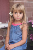 Portrait of cute little Girl outdoor. Royalty Free Stock Image