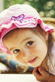 Portrait of a cute little girl outdoors Stock Photography