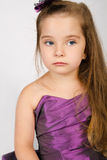 Portrait of cute little girl in princess dress Stock Images