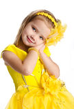 Portrait of cute little girl in princess dress Stock Photography