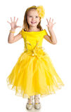 Portrait of cute little girl in princess dress Royalty Free Stock Photos