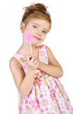 Portrait of cute little girl in princess dress Royalty Free Stock Images