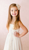Portrait of cute little girl in princess dress Royalty Free Stock Photo