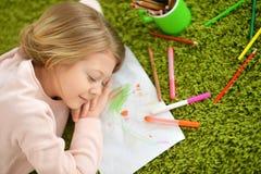 Little girl sleeping Stock Image