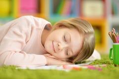Little girl sleeping Stock Photo