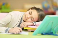 Little girl sleeping Stock Images