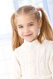 Portrait of cute little girl smiling Stock Photos