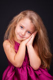Portrait of a cute little girl in the studio Royalty Free Stock Image