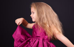 Portrait of a cute little girl in the studio Stock Image