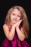Portrait of a cute little girl in the studio Stock Photography