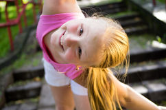 Portrait of a cute little girl at summer Royalty Free Stock Images