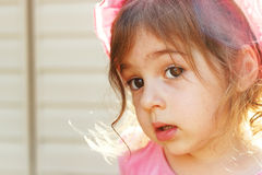 Portrait of Cute little girl thinking Royalty Free Stock Image