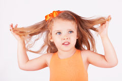Portrait of a cute little girl royalty free stock image