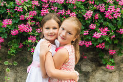 Portrait of a cute little girls Stock Images