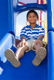 Portrait of a cute little indian boy at playground Stock Images