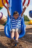 Portrait of a cute little indian boy at playground Stock Photography