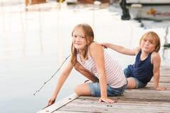 Portrait of cute little kids Royalty Free Stock Photos