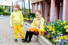 Portrait of cute little kids Stock Photo