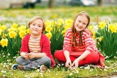 Portrait of cute little kids Royalty Free Stock Image