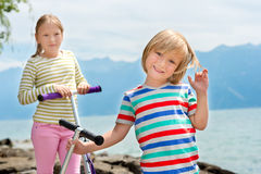 Portrait of cute little kids Royalty Free Stock Photography