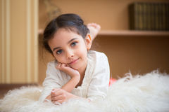 Portrait of cute little latino girl Royalty Free Stock Images