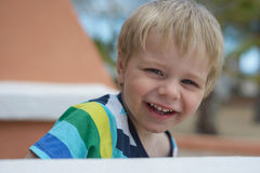 Portrait of cute little smiling boy Stock Photo