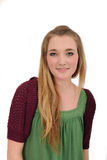 Portrait of a cute long-haired girl. Portrait of a long-haired girl with a lot of copy-space stock photos