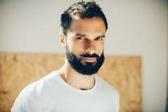 Portrait of a cute man wearing white tshirt Stock Photo