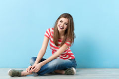Portrait of a cute modern girl Stock Image