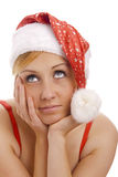Portrait of cute Mrs. Santa. Stock Photography