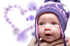 Portrait of cute newborn baby girl Stock Image